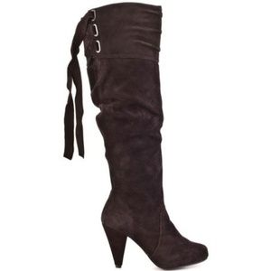 Naughty Monkey 'Fearless' Suede Boots in Chocolate